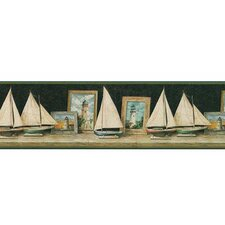 <strong>4 Walls</strong> Lodge Décor Pond Boat Border Wallpaper