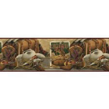 Lodge Décor Western Still Life Border Wallpaper