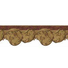 Lodge Décor Berry Scroll Border Wallpaper