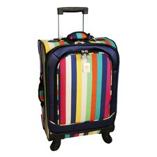 "<strong>Jenni Chan</strong> 21"" Multi Stripes 360 Quattro Spinner Suitcase"