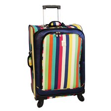 "<strong>Jenni Chan</strong> 25"" Multi Stripes 360 Quattro Spinner Suitcase"
