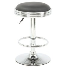 Soda Fountain Adjustable Height Barstool with Cushion