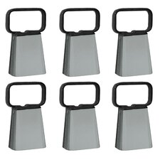 Customizable Cowbell with Easy Grip Handle (Set of 6)