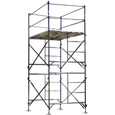 13.3'H x 5'W x 7'D Two Story Stationary Scaffold Tower