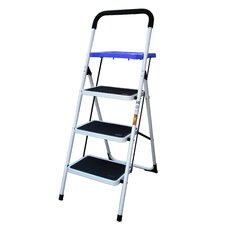 AmeriHome 3 Step Ladder with Paint Tray