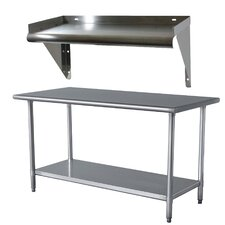 Sportsman Stainless Steel Work Table with Shelf