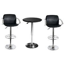 "25"" AmeriHome Steel / Vinyl Bar Stool Set"