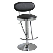 "AmeriHome 24"" Adjustable Swivel Bar Stool with Cushion"