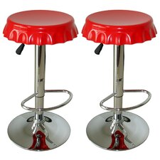 AmeriHome Adjustable Height Swivel Bar Stool (Set of 2)