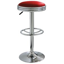 "AmeriHome 23.5"" Adjustable Swivel Bar Stool with Cushion"