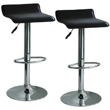 "Amerihome 21.5"" Adjustable Swivel Bar Stool with Cushion (Set of 2)"
