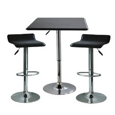 AmeriHome I 3 Piece Adjustable Height Pub Table Set