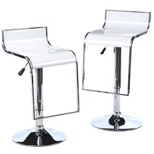 "AmeriHome 21.5"" Adjustable Swivel Bar Stool (Set of 2)"