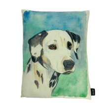 <strong>lava</strong> Dalmation Painted Pillow