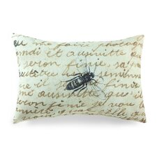 Lava Bee on Notes Pillow