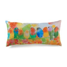 Lava Tropical Birds Pillow