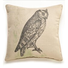 Owl Etching Polyester Pillow