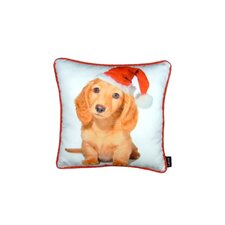 Holiday Blond Daschund Pillow