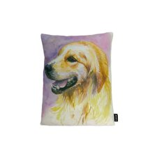 Lava Retriever Watercolor Feather Filled Pillow
