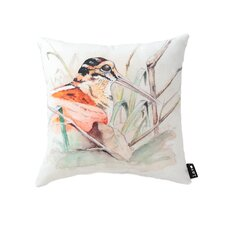 Lava Bird Marsh Watercolor Pillow