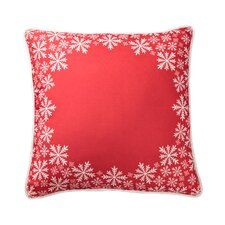 Lava Snowflake Border Pillow