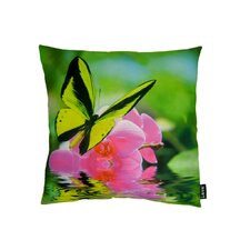 <strong>lava</strong> Butterfly on Orchid Polyester Pillow