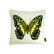 Noir Jaune Polyester Pillow