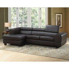 <strong>Hokku Designs</strong> Modern Leather Sectional