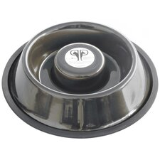 Slow Eating Stainless Steel Non Tip Dog Bowl