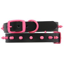 Genuine Leather Dog Collar with Spikes