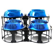 Deluxe Bone Double Diner with Two Pet Bowls