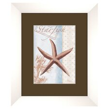 Beach B Framed Graphic Art
