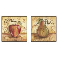 Kitchen Fruit 2 Piece Framed Graphic Art Set