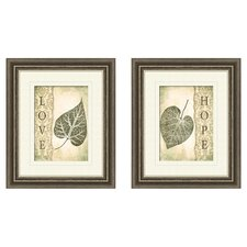Love and Hope 2 Piece Framed Graphic Art Set