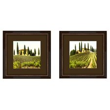 Tuscan View 2 Piece Painting Print Shadow Box Set