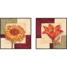Bella On Masonite 2 Piece Framed Graphic Art Set