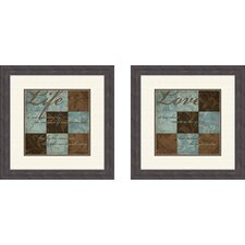 <strong>Pro Tour Memorabilia</strong> Life and Love Framed Art (Set of 2)