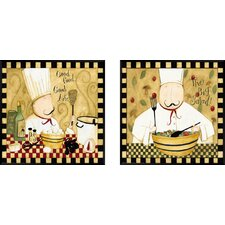 Good Food 2 Piece Framed Graphic Art Set