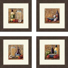 <strong>Pro Tour Memorabilia</strong> Rustic Kitchen Framed Art (Set of 4)