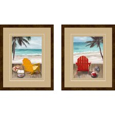 <strong>Pro Tour Memorabilia</strong> Sunny Afternoon Framed Art (Set of 2)