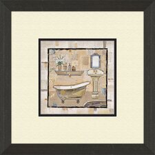 Vintage Bath Time B Framed Painting Print