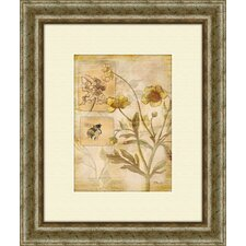 Flora Bumblebee A Framed Graphic Art