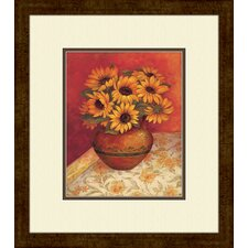 <strong>Pro Tour Memorabilia</strong> Tuscan Sunflowers A Framed Art