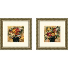 Floral Daisy Dynamic Framed Art (Set of 2)