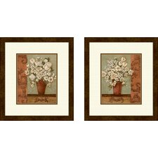 Floral Intaglio 2 Piece Framed Art Set