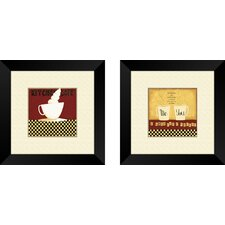 Kitchen Chef 2 Piece Framed Art Set