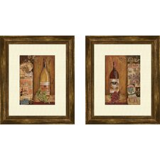 Kitchen Vintage 2 Piece Framed Graphic Art Set