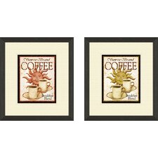 Kitchen Sunrise Brand 2 Piece Framed Vintage Advertisement Set