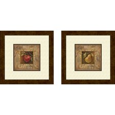 Kitchen Pera Bella 2 Piece Framed Graphic Art Set