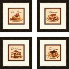Kitchen Torta Alpine 4 Piece Framed Vintage Advertisement Set